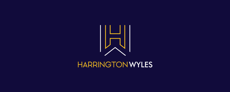 harrington wyles, logo, background